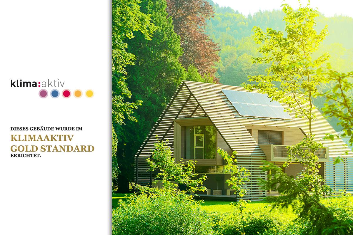 Holzbau Strigl: Klima:aktiv Gold Auszeichnung für das Passivhaus Eisenstraße