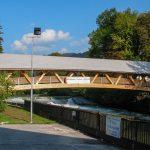 Fußgängerbrücke der Marktgemeinde Lunz am See - Holzbau Strigl