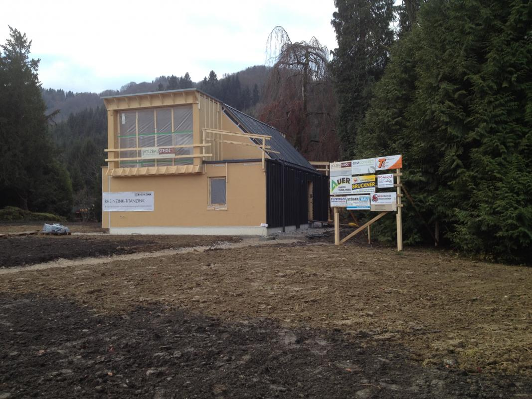 Passivhaus Eisenstraße: Rohbau / Holzbau Strigl