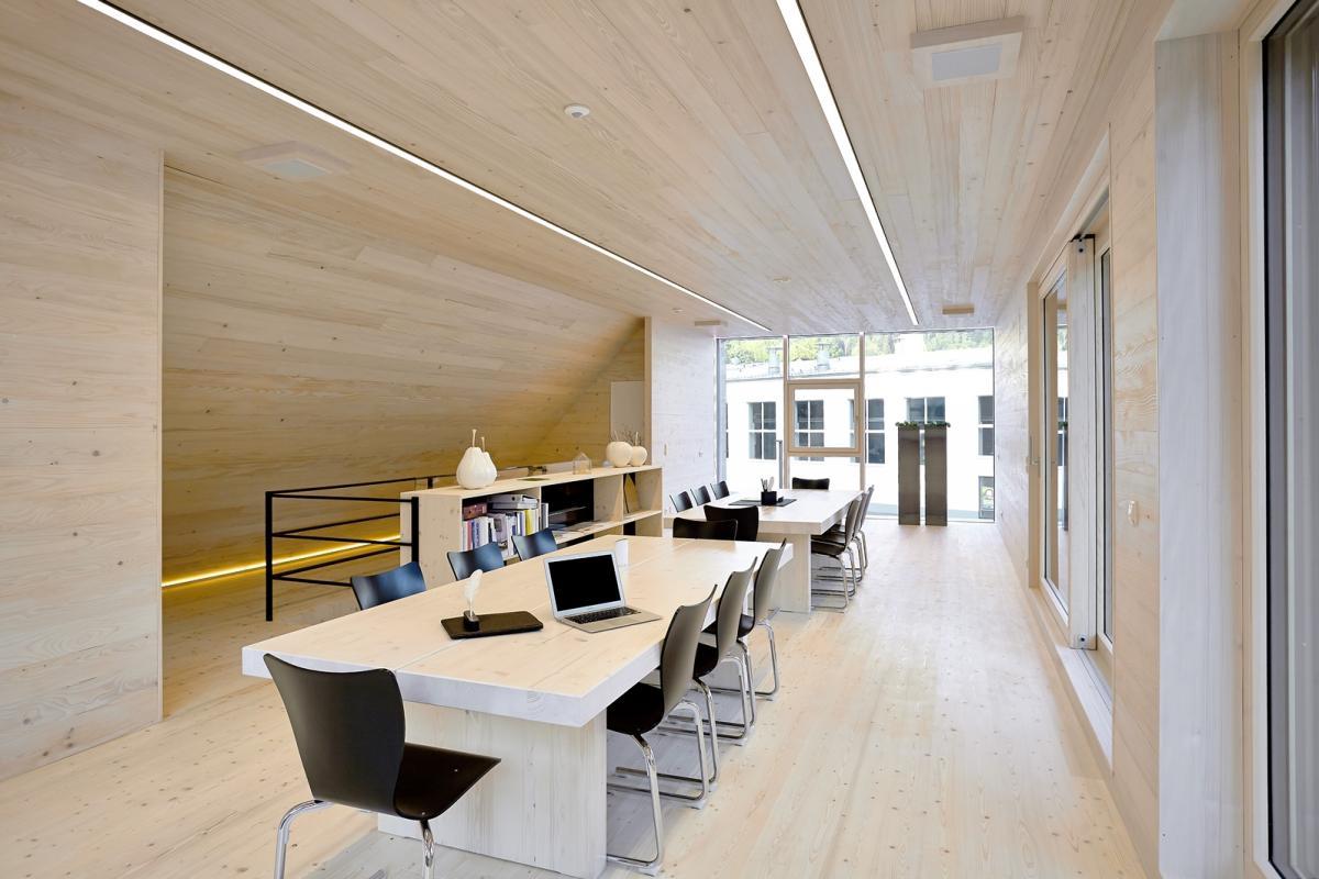 Holzbau Strigl: Passivhaus Eisenstraße: Interieur