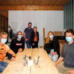 SV Strigl Lunz (Heinz Prokesch, Stefan Stängl, Lena Eibenberger und Bastian Stängl) und von der Firma Holzbau Strigl GmbH Adi & Isabella Strigl
